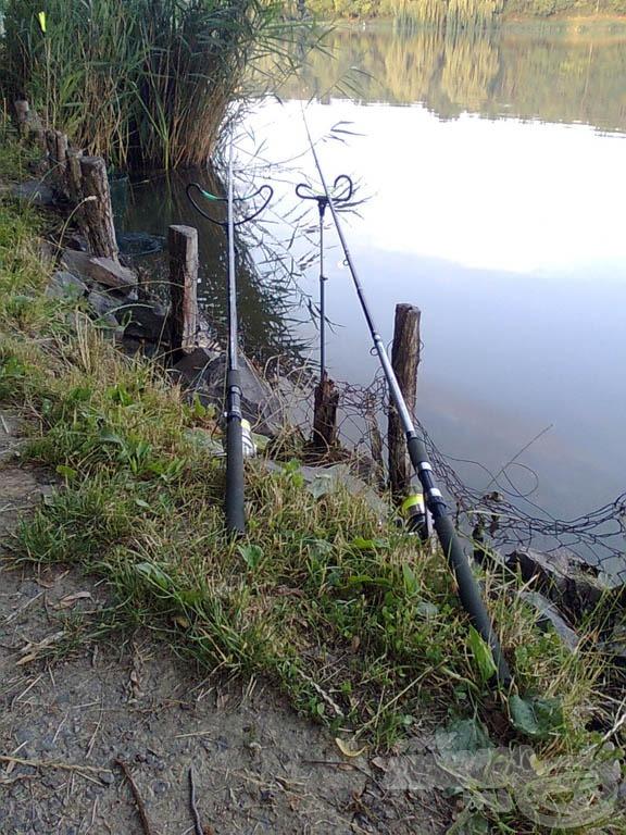 A horgászállás nincs túlbonyolítva, a Haldorádós leszúrók a kedvenceim :)