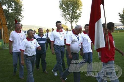 A lengyel csapat