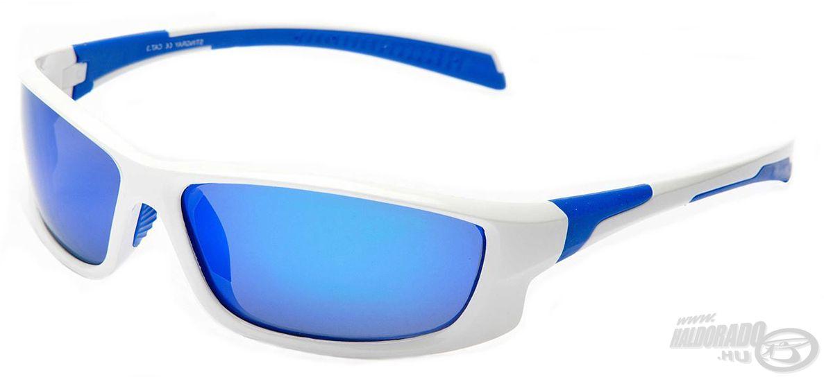 A Stingray egyedi fehér-kék színű kerettel rendelkezik, melynek lencséje a legnagyobb tűző napsütésben is biztos szolgálatot fog tenni