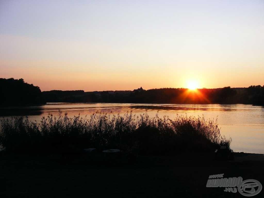 Lenyűgöző naplementében gyönyörködhettem