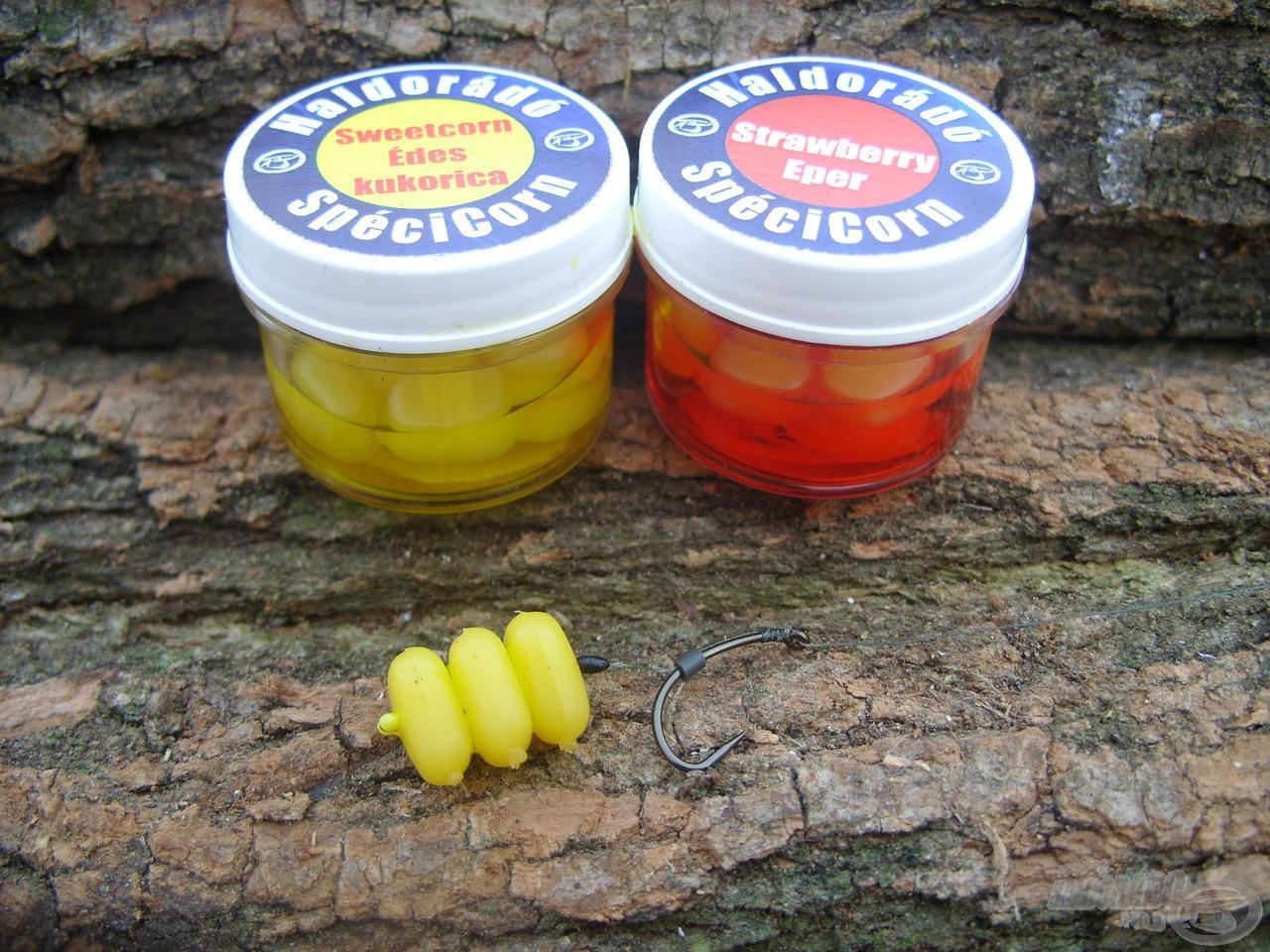 Az édesszájú pontyok számára is sikerült megtalálni a legfogósabb variációt az édes kukorica és az eper csábító egyvelegével