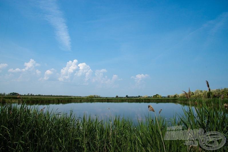 Mesterséges horgászvíz, mégis kellemes, természetközeli érzést kelt