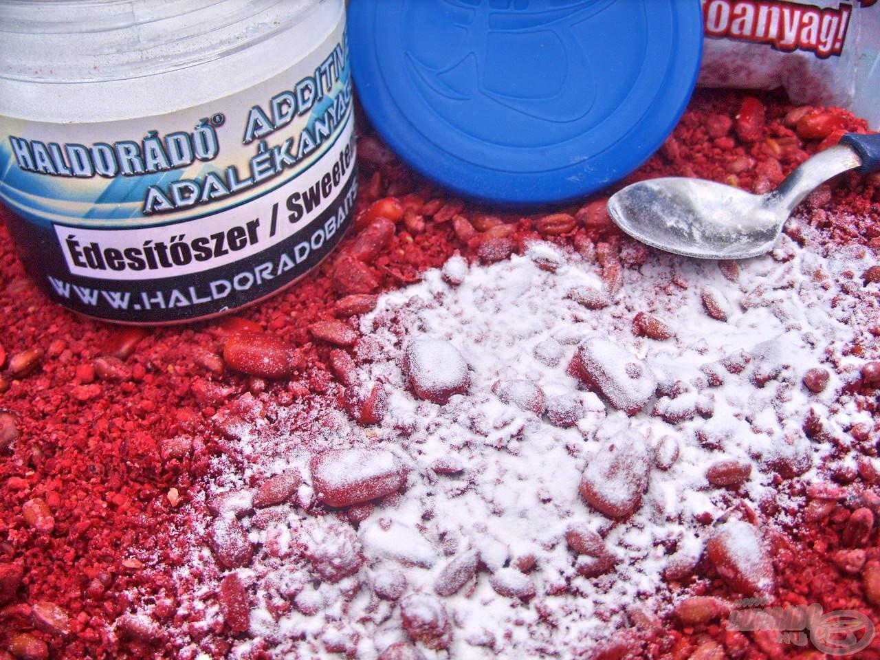 Kevés is elegendő ebből a finom fehér porból, és etetőanyagunk olyan édes ízzel fog rendelkezni, aminek nehezen tudnak ellenállni a halak