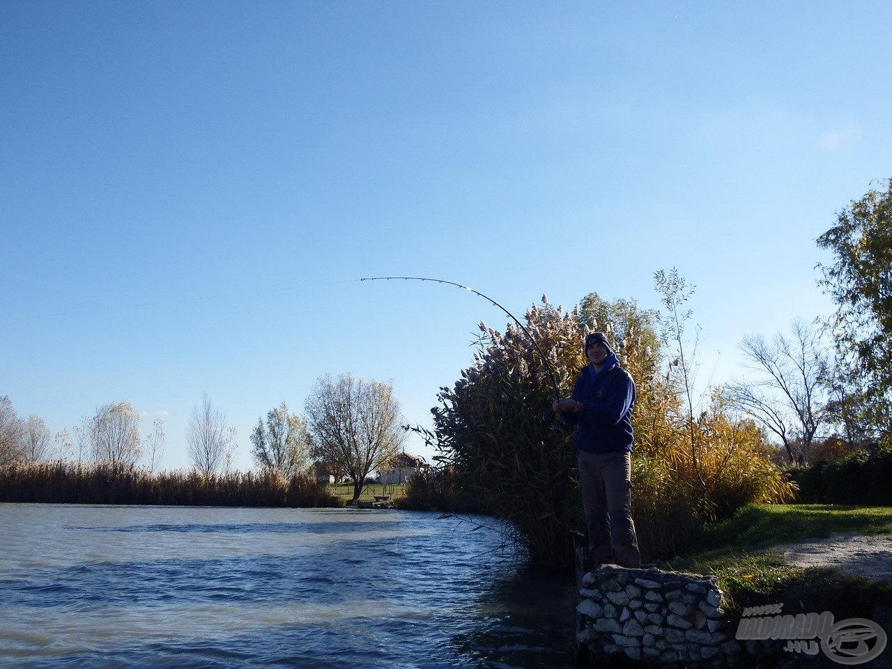 Remek horgászat bontakozott ki a délelőtt folyamán