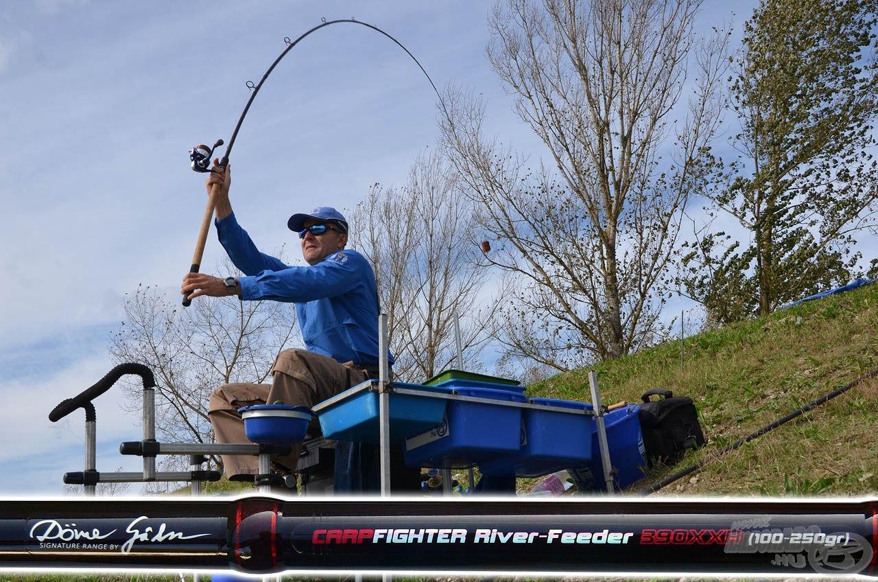 A Spro Team Feeder Carp Fighter River 390XXH feederbot garantáltan megbirkózik a legnagyobb súlyú végszerelékekkel is