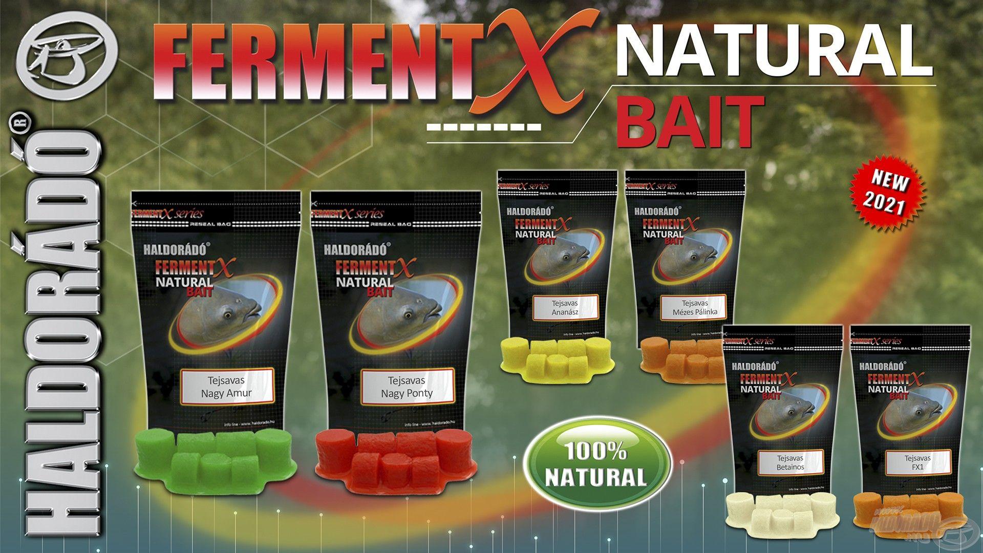 Íme, a másik bomba újdonságunk, a FermentX Natural Bait csoport!