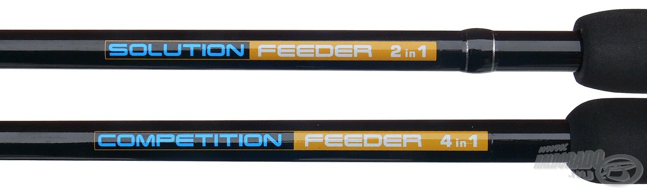 A Nevis Solution 2, míg a Competition 4 különböző hosszban használható, variálható feederbot