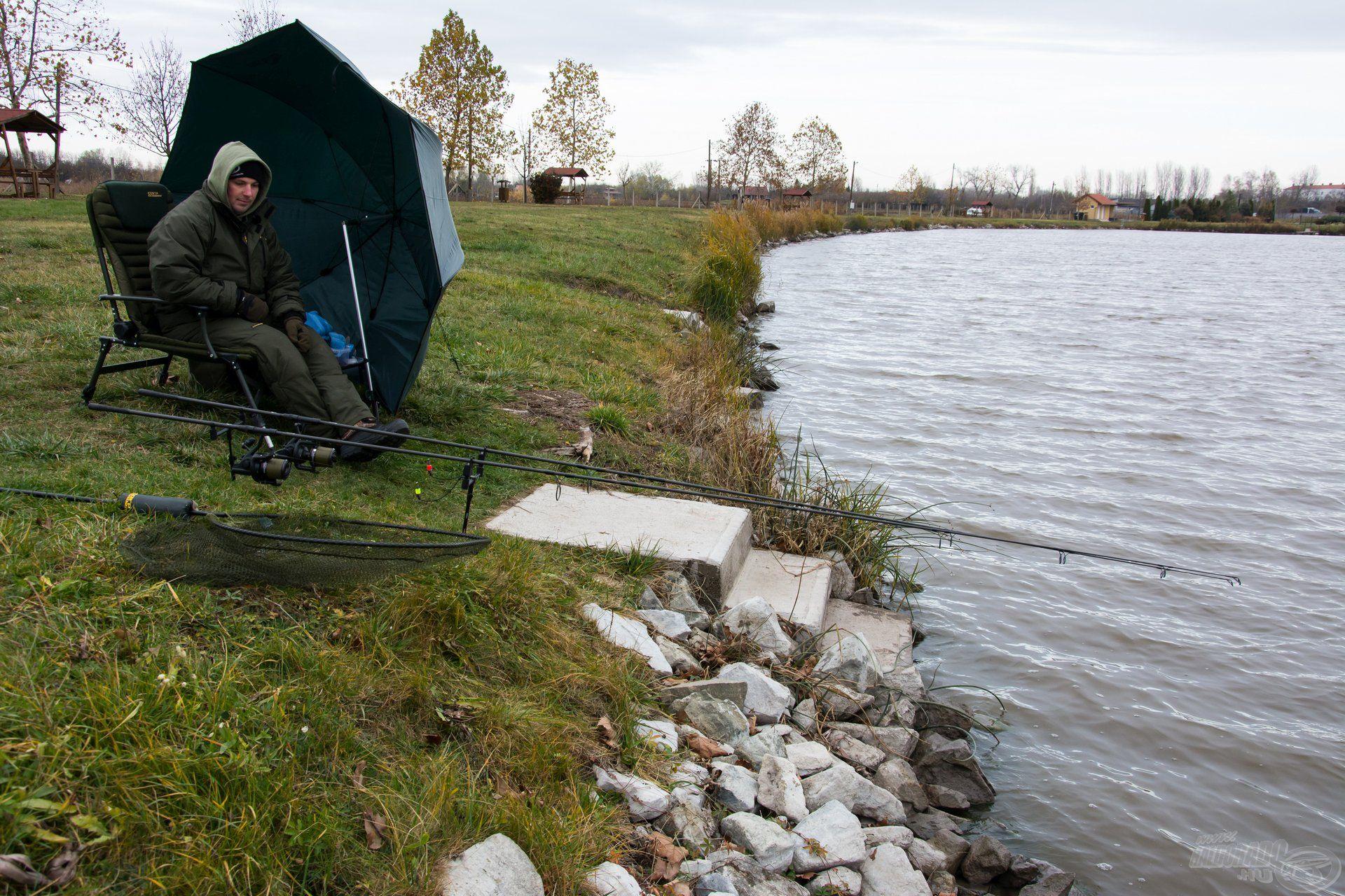 Az ilyen gyors horgászatokhoz minimális mennyiségű felszerelést viszek magammal