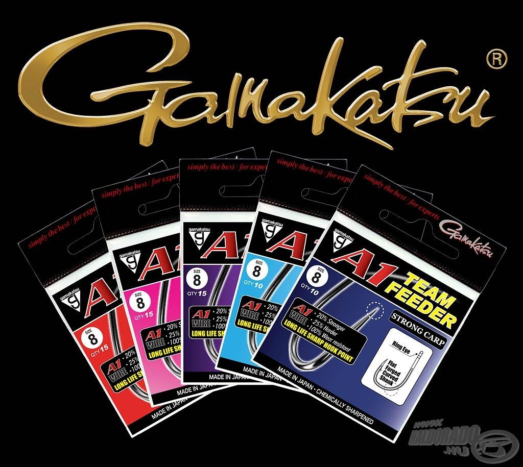 A Gamakatsu Team Feeder horgok 5 különböző változatban kaphatók, kifejezetten a modern feederhorgászat igényeihez hangolva
