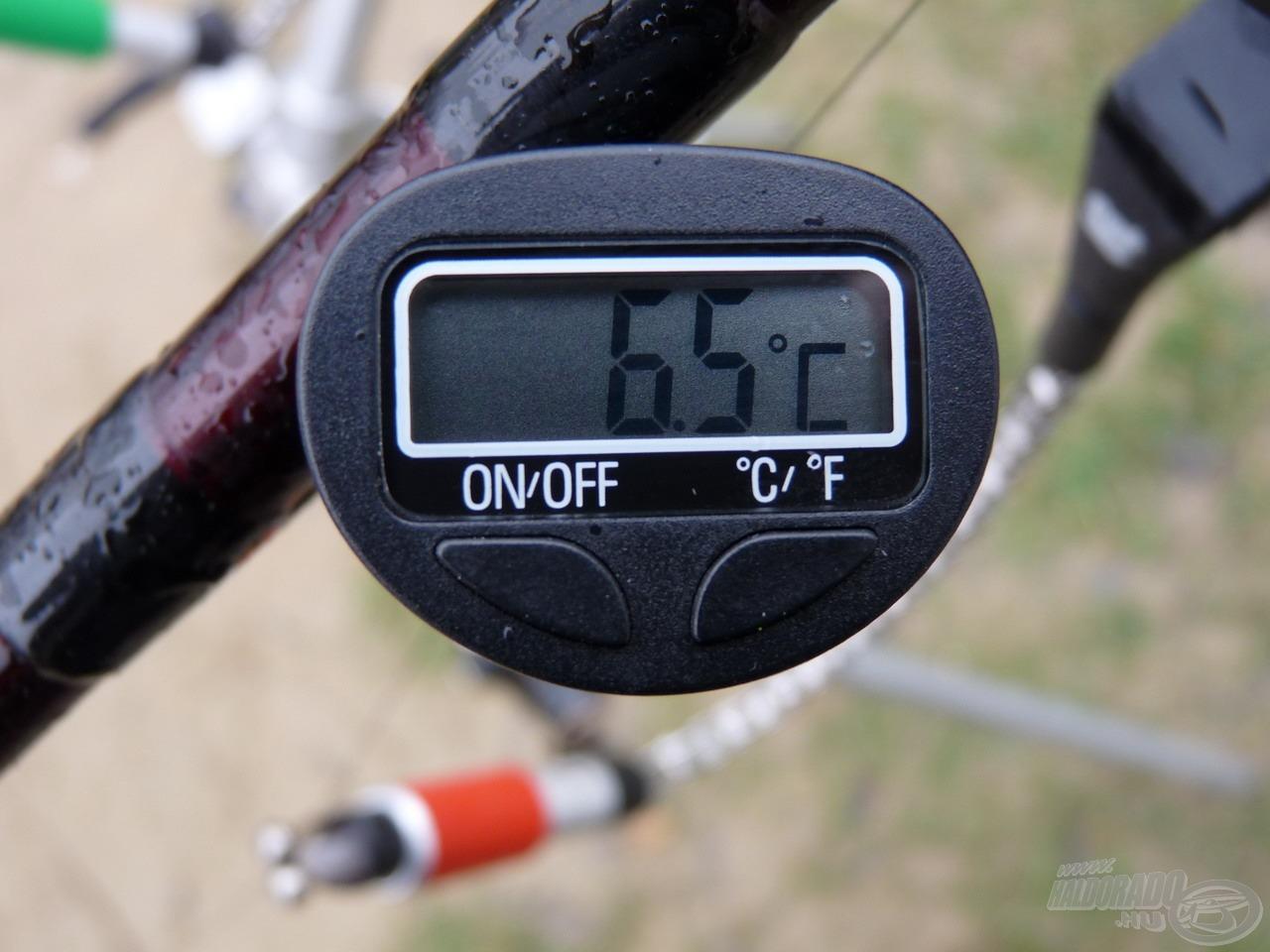 A levegő a legenyhébb időszakban is csak 6,5 Celsiusra melegedett