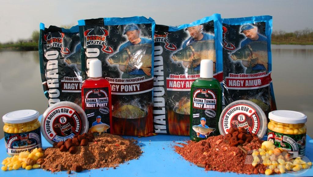 A Nagy Ponty és Nagy Amur aromák ízvilágukban illeszkednek a nevükkel azonos termékcsoportokhoz: az etetőanyaghoz, pellethez, valamint az üveges kukoricához