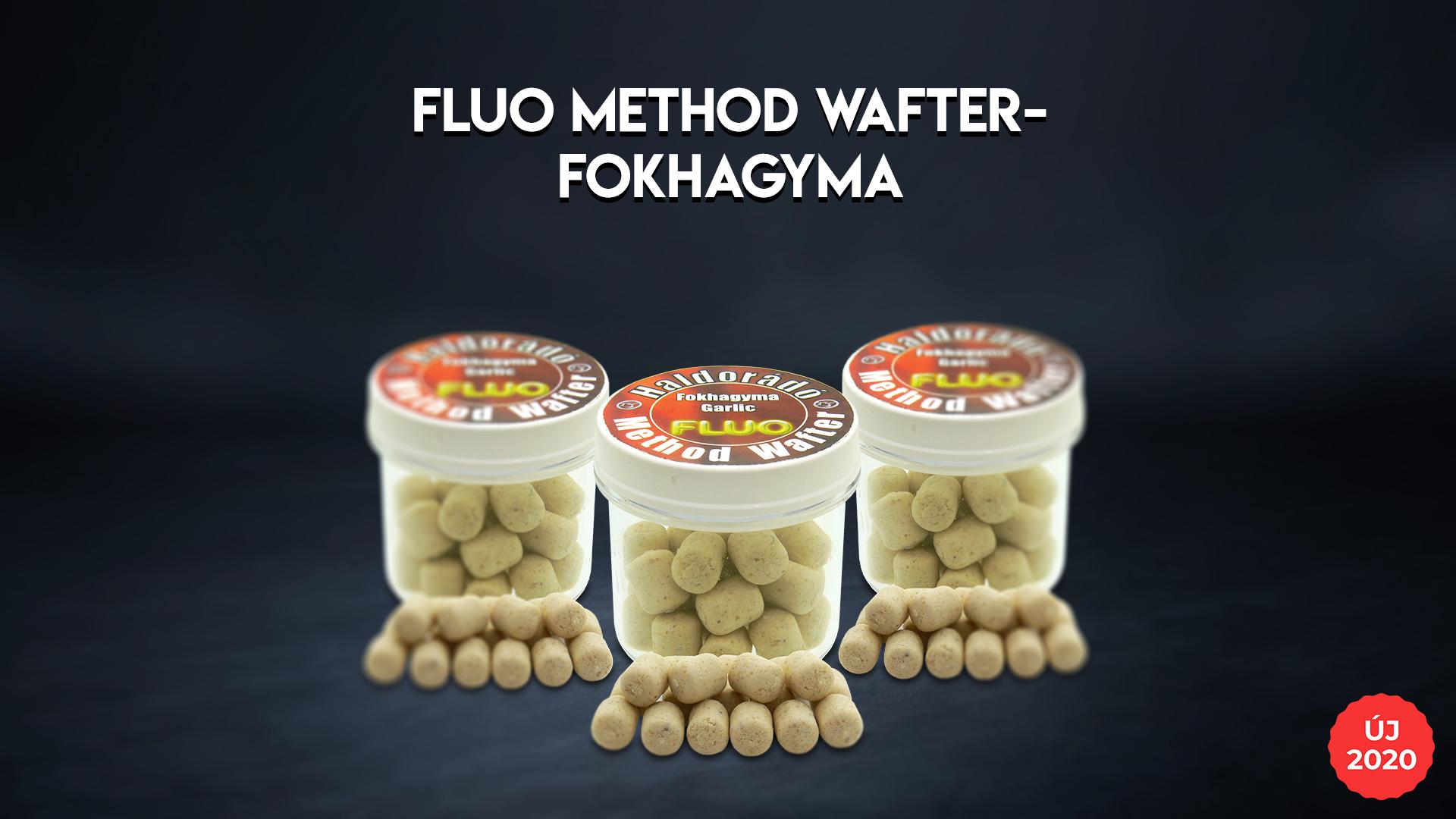 A Fluo Method Wafter csalik szortimentjéből hiányzottegy fehér színű, intenzív fokhagyma ízű verzió. Ezt most pótoltuk, és ettől az évtől már ebben a kicsi, 8 mm-es változatban is kapható lesz