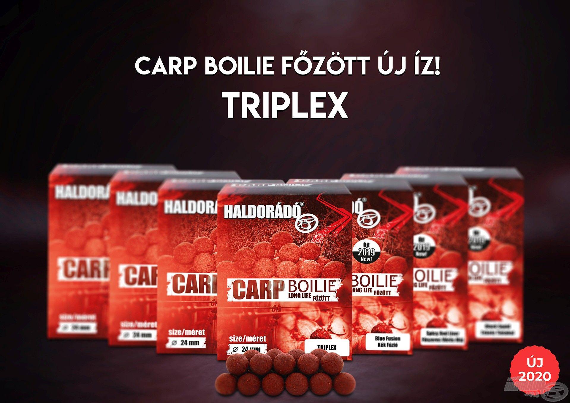 Íme, a Carp Boilie főzött termékcsoport legújabb, TripleX változata!