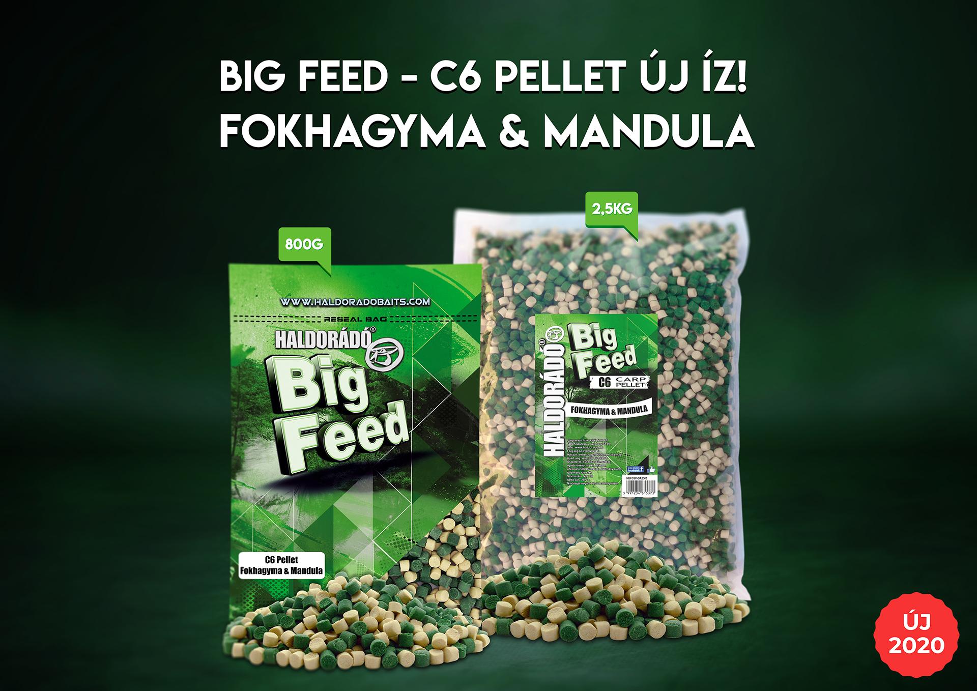 A Big Feed C6 Pellet család számos kiváló megoldást kínál akár alapozó etetés kialakítására, kiegészítésére, akár kosaras keverékek beltartalmának dúsítására. Ez szintén megtalálható palettánkon mostantól Fokhagyma & Mandula aromával és zöld-fehér színnel!