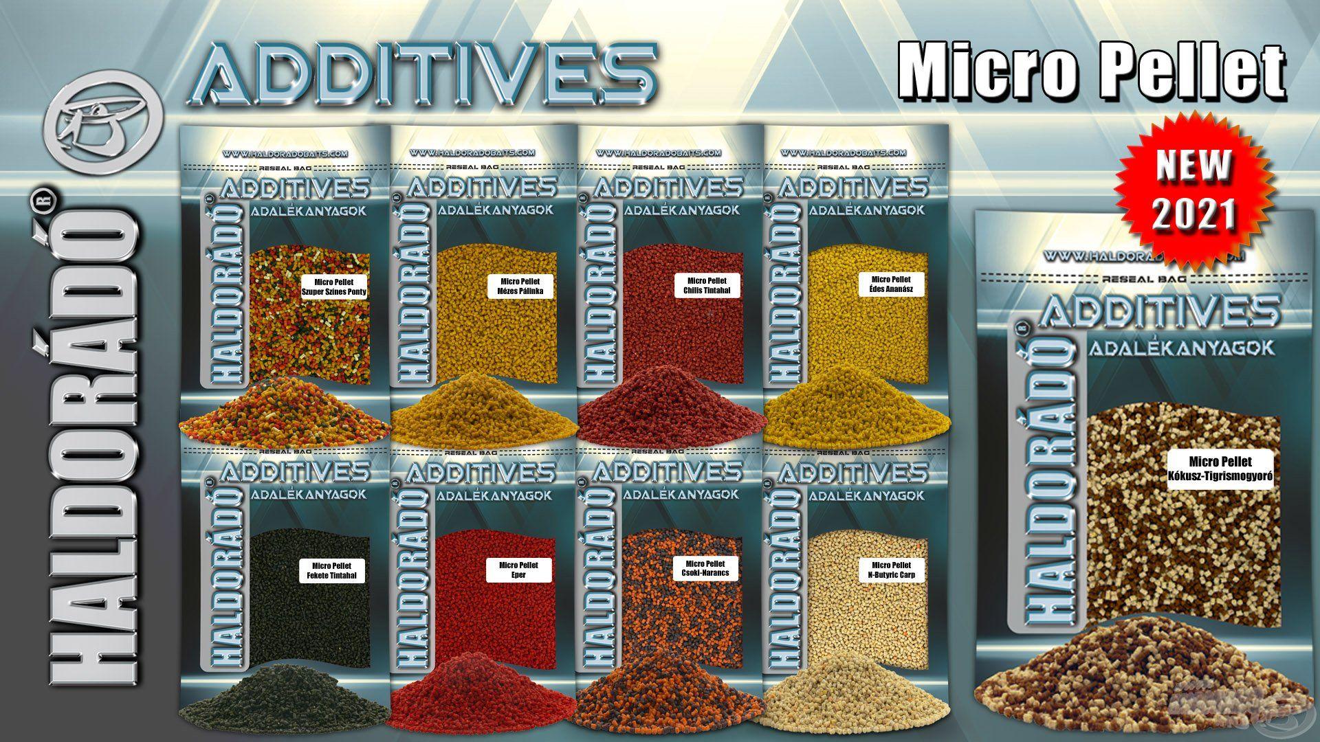 A Micro Pellet családot immár 10 féle változatban kínáljuk, az új íz a Kókusz + Tigrismogyoró