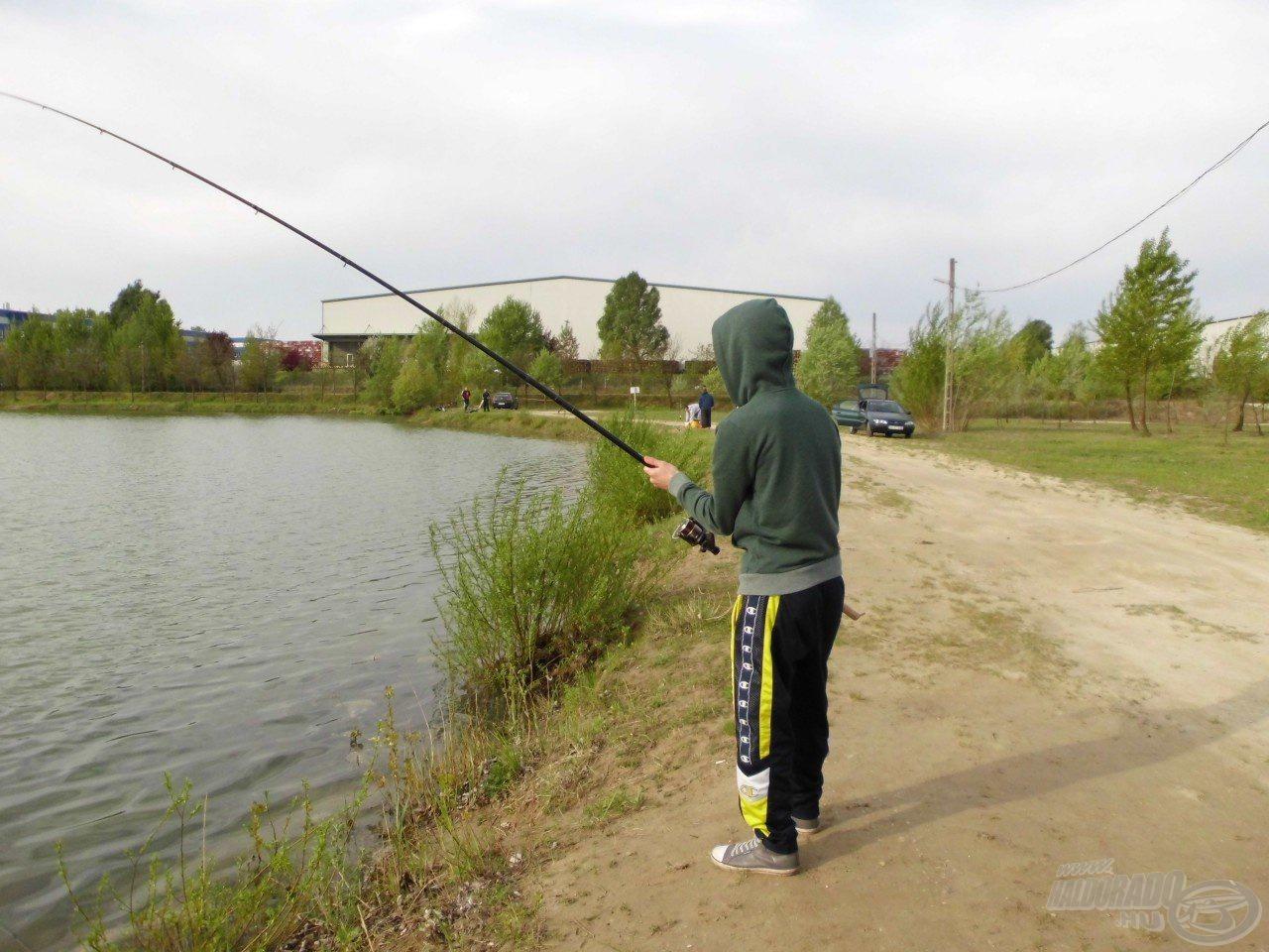 A bent megakasztott halak is húztak és küzdöttek rendesen