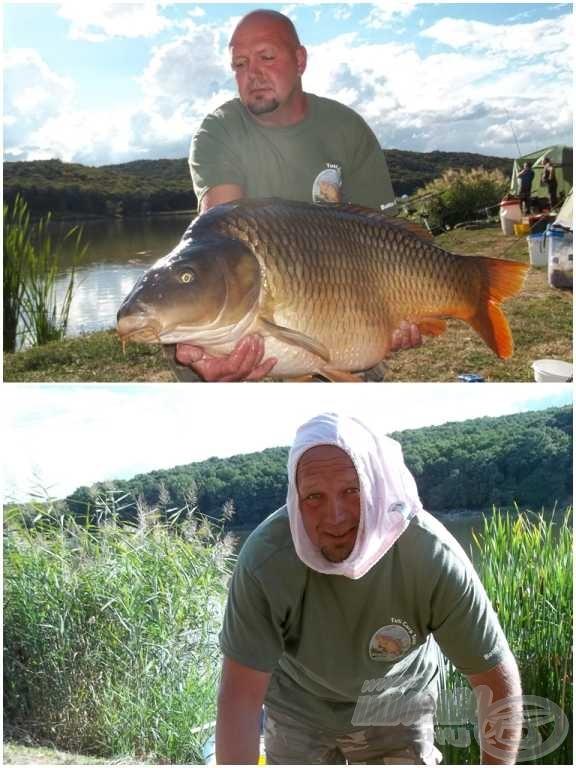 """A második """"bugyis"""" és hala (Batta András, 21,40 kg)"""