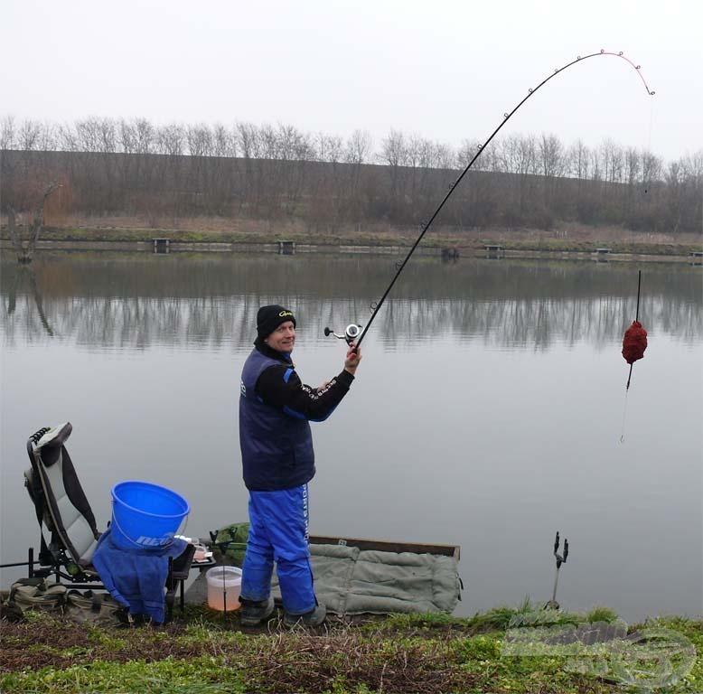 A szokatlanul enyhe január horgászatra csábított a Batéi-horgásztavon