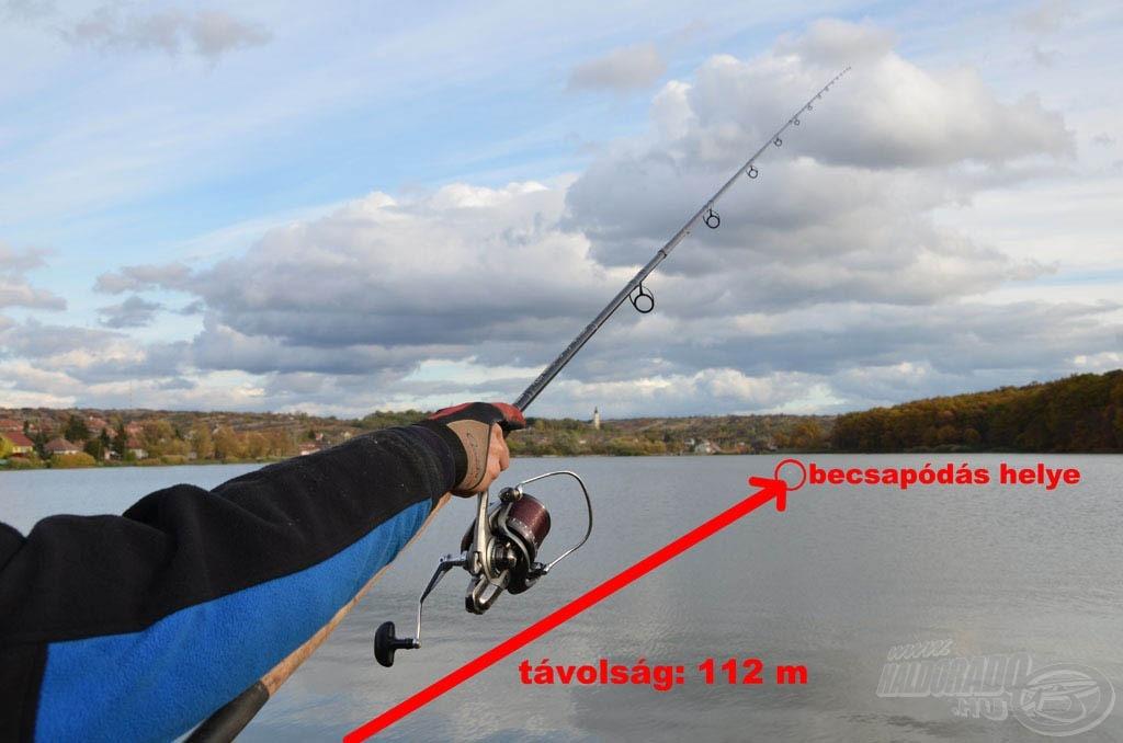 Az itteni eredményes horgászat egyik alapfeltétele a távoli dobás