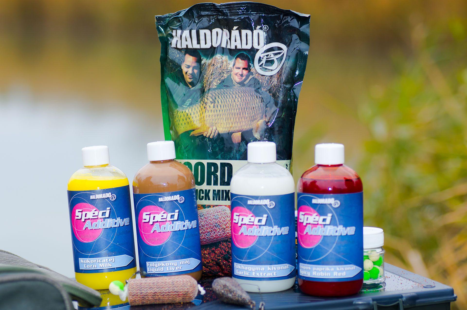 Haldorádó SpéciAdditive család a Haldorádó 2018-as meghatározó újdonságainak egyike. Ezek nem mesterséges folyékony aromák, hanem olyan természetes növényi és állati kivonatok, amelyeket bizonyítottan szeretnek a pontyok