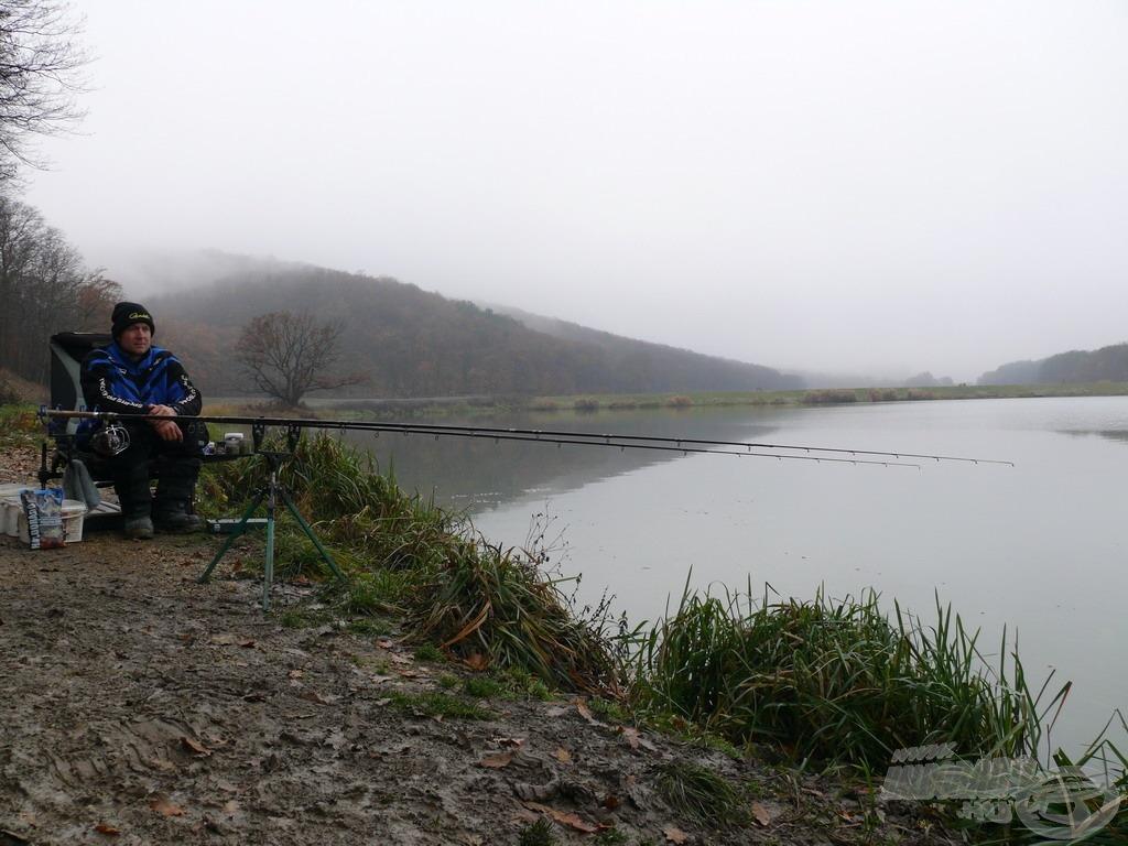 A III. sz. bojlis helyen horgásztam