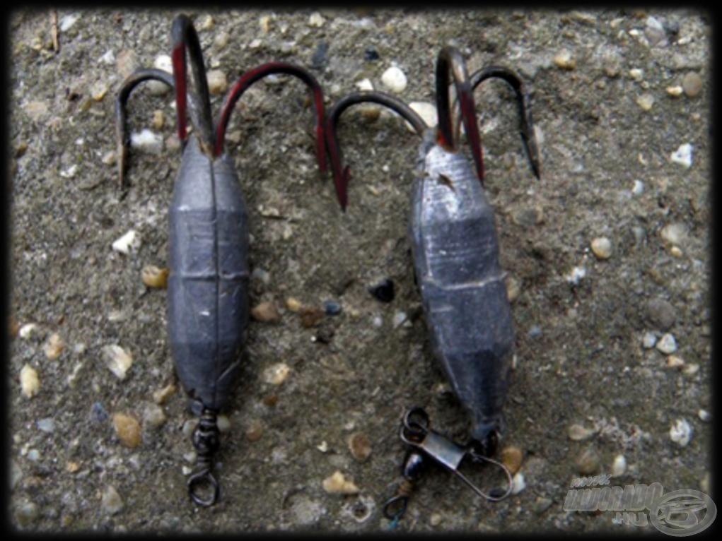 Ezek a horgok sajnálatos módon már láttak halat! (Forrás: kapos.hu)
