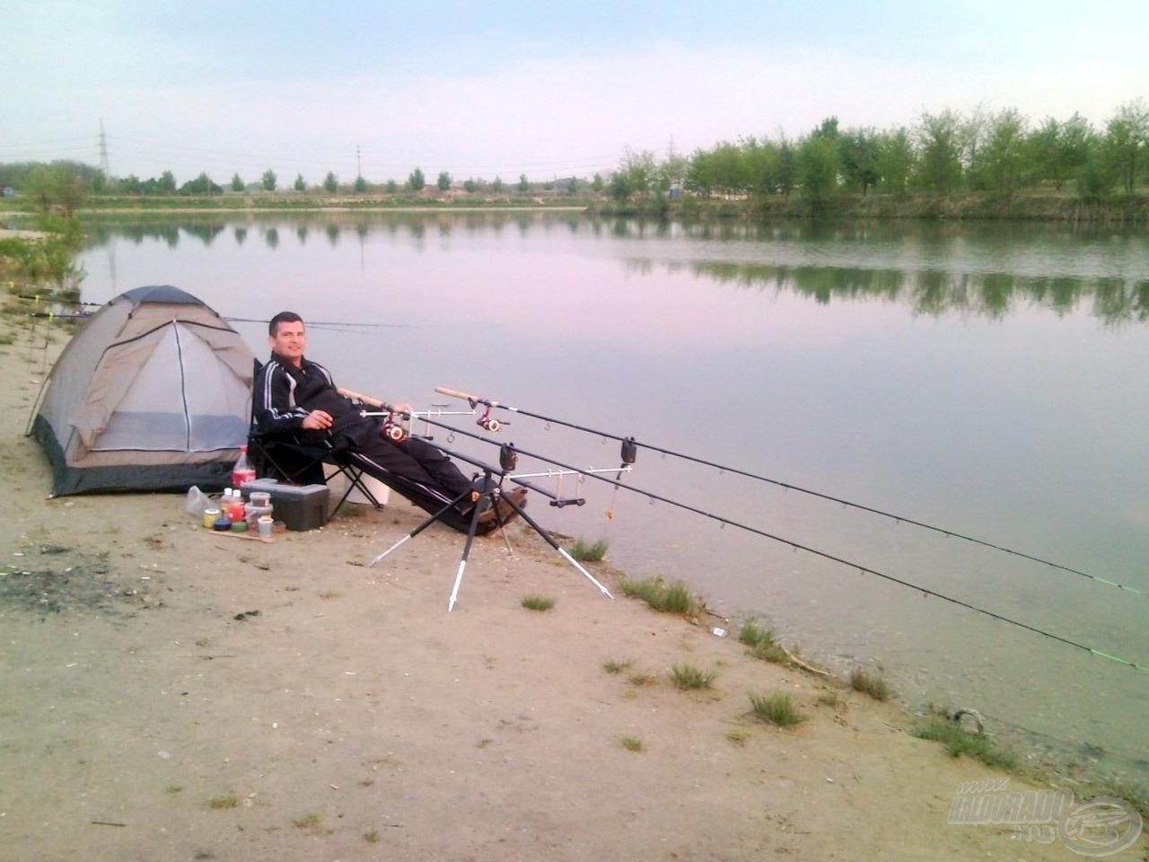 Ma már csak mosolygok ezen a horgászálláson, akkoriban ez természetesnek tűnt