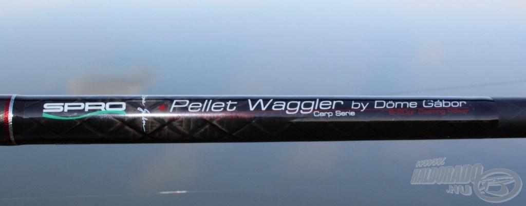 A dobóteszthez az általam korábban már bemutatott SPRO Pellet Waggler 420 matchbotot választottam