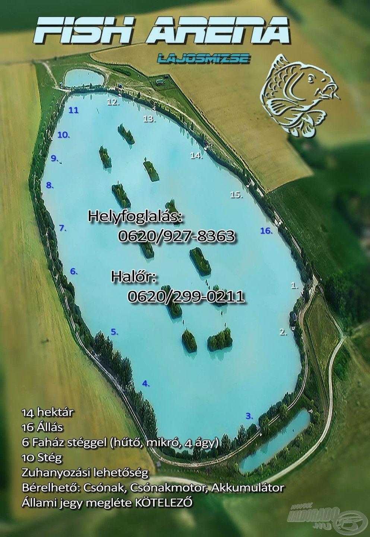 A tó középső részén található 15-ös állást választottuk