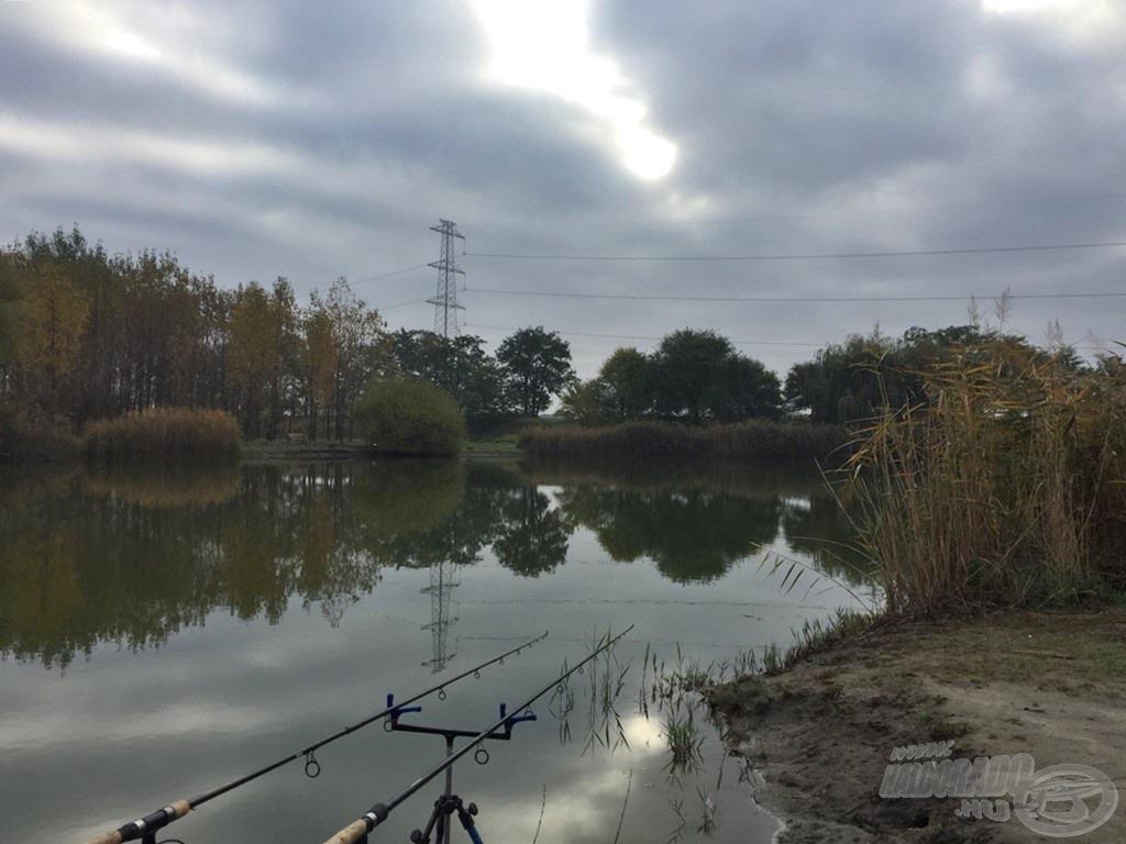 Szürke, hideg őszi időjárás fogadott a vízparton. Még sötétben érkeztem, hogy a rövid nappali időszakban minél több időt tudjak horgászni