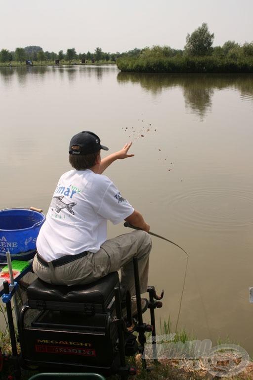 Szegedi Levente snecizéssel nyerte a szektorát… hiába, ha nem eszik nagy hal, akkor azt kell fogni, ami hajlandó enni…