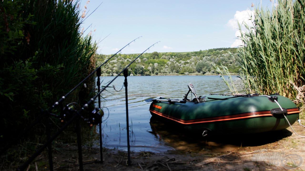 A csónak felkészítve, rajtra készen