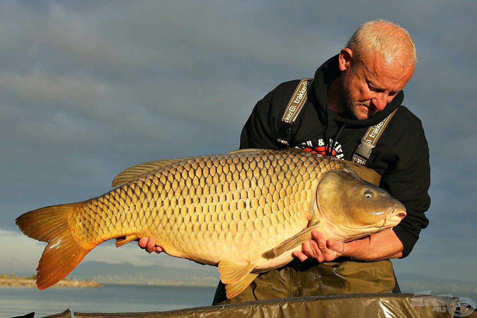 … és az idei legnagyobb halam 21,40 kg-os súllyal