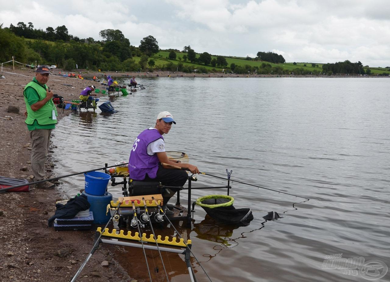 Siroki Dávid akadótengerbe kapott helyet, 1 méteres sávba volt esélye horgászni