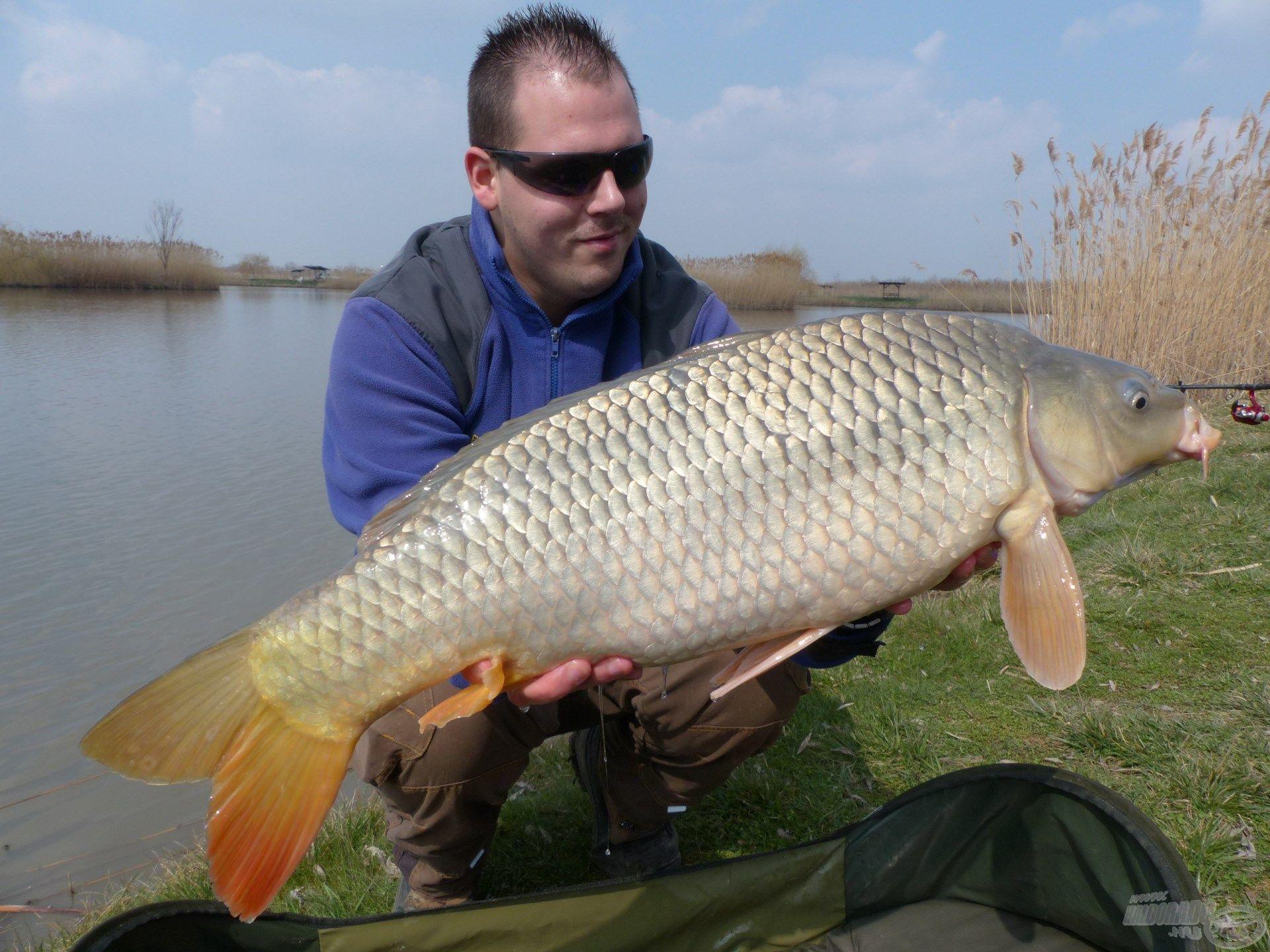 Jóleső érzés volt a tavaszi napsütésben ilyen szép halat a kezemben tartani