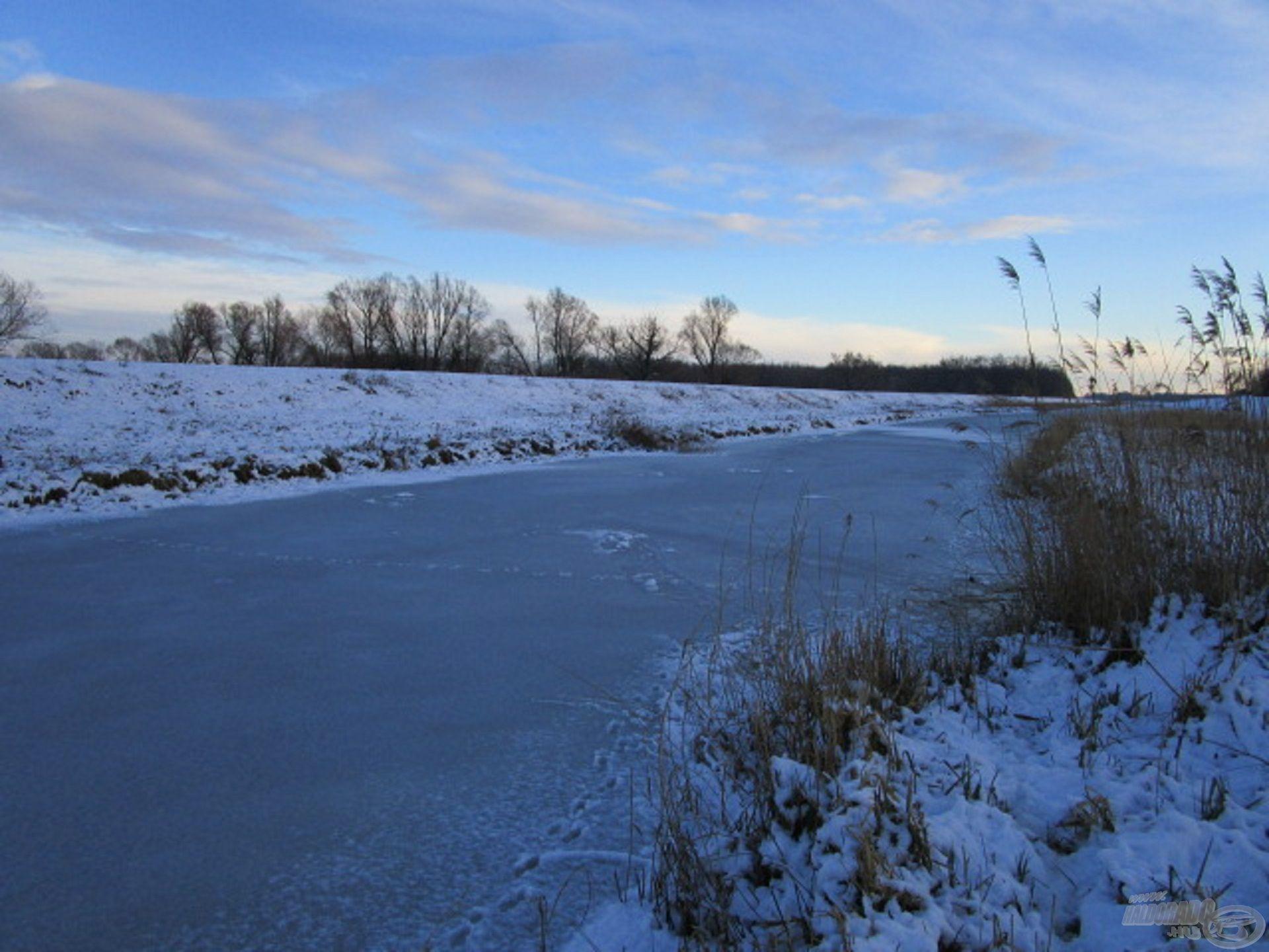 Az igazán hideg időszakban még a folyó alsó szakasza is befagy