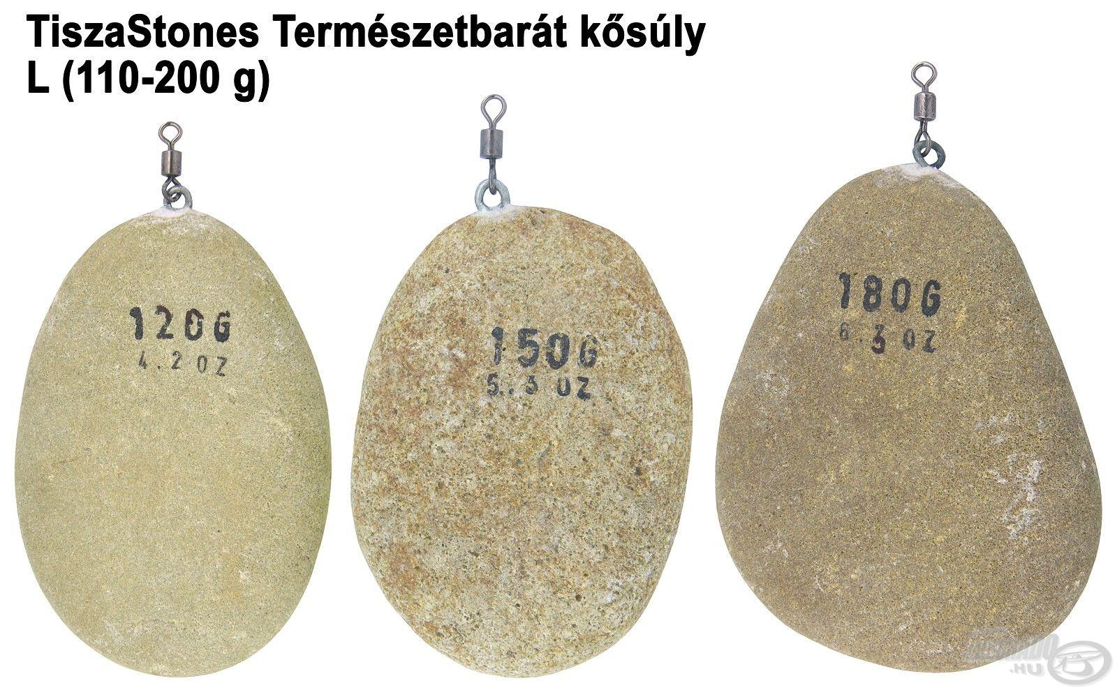 A kősúlyok három különböző mérettartományban kerülnek forgalomba