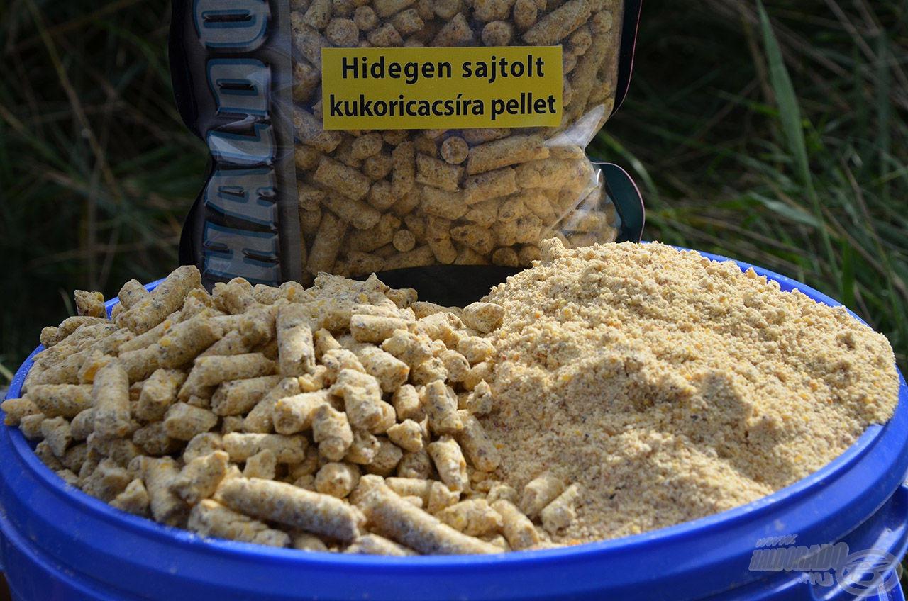A kukoricacsíra pellet őrölve nagyszerű alap etetőanyag is!