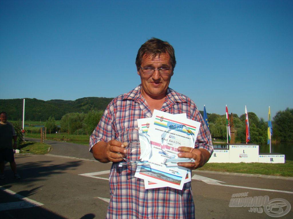 Maconka Barátai '15 Szuperkupa, feeder bronz és egyben a legjobb külföldi horgász: Jan Gazdik