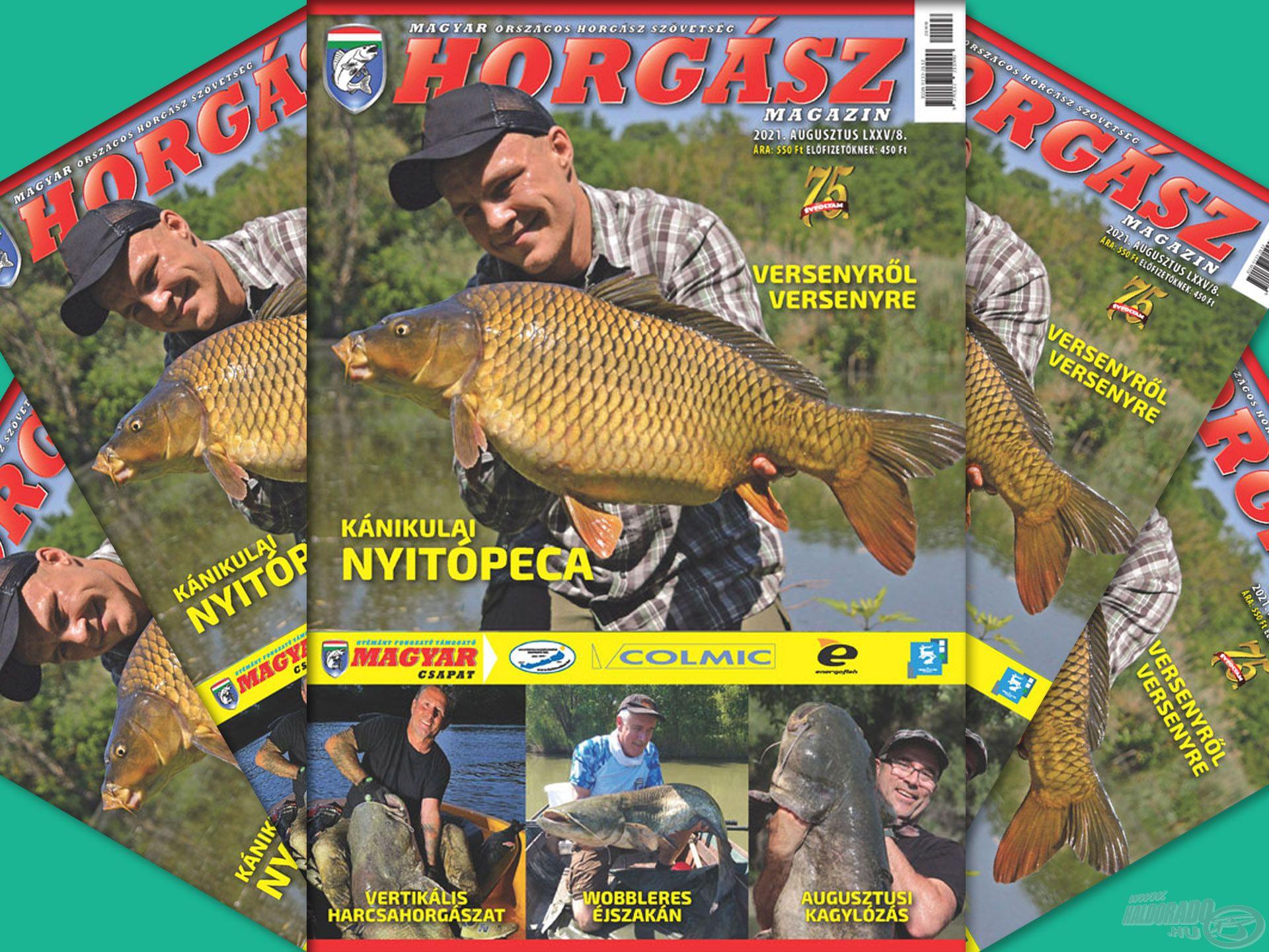 Megjelent a Magyar Horgász 2021. augusztusi száma