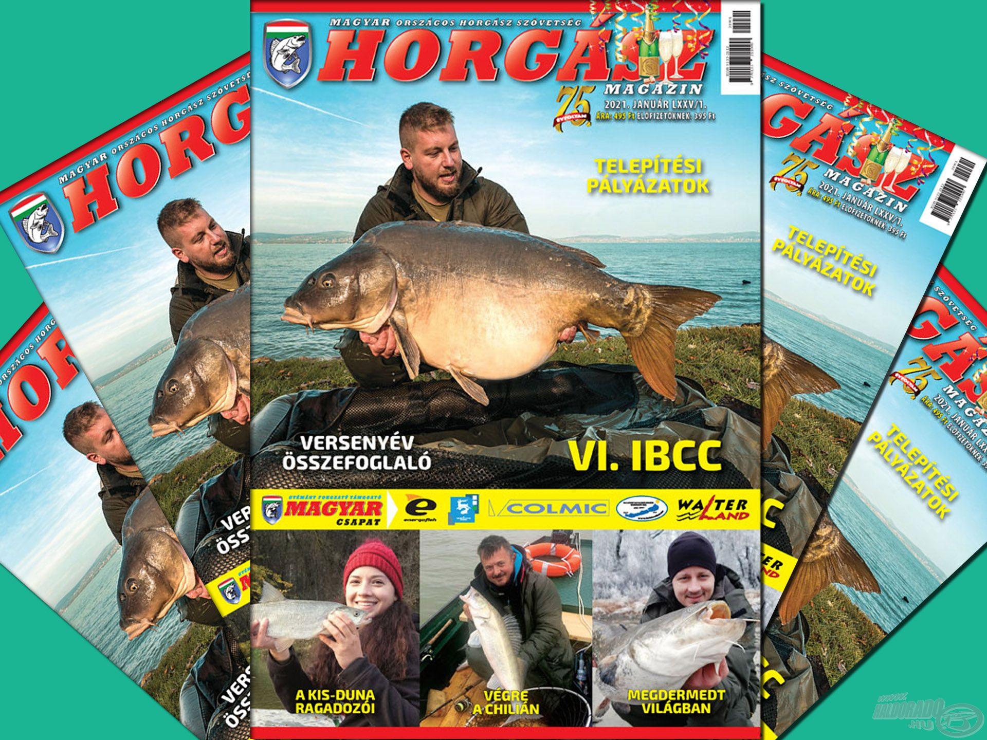 Megjelent a Magyar Horgász 2021. januári száma