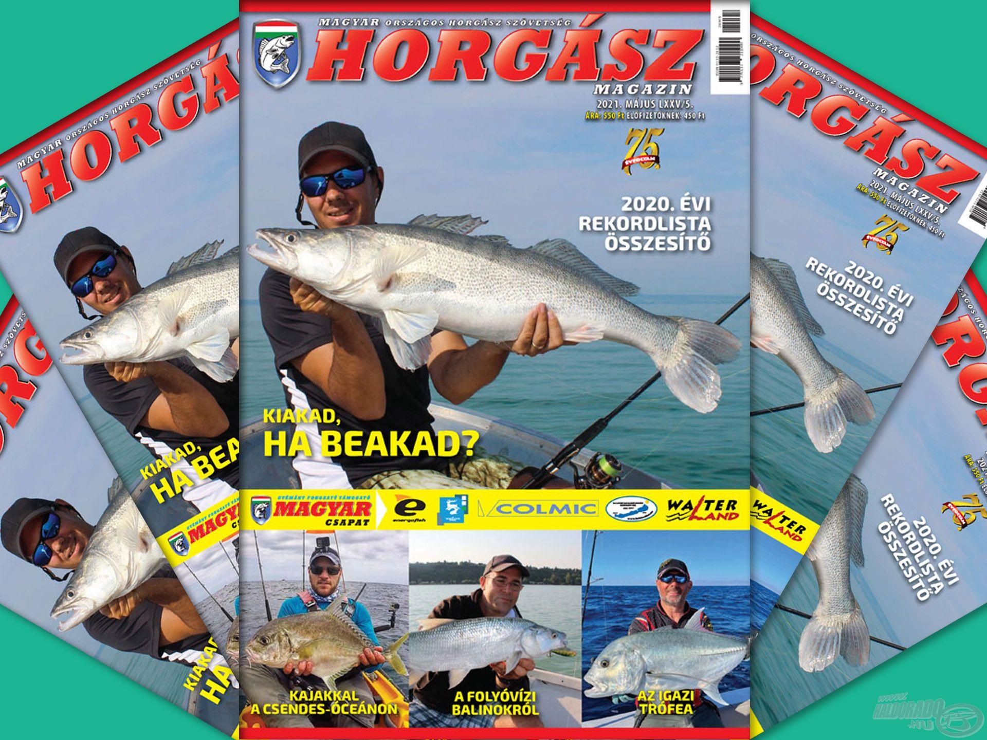 Megjelent a Magyar Horgász 2021. májusi száma