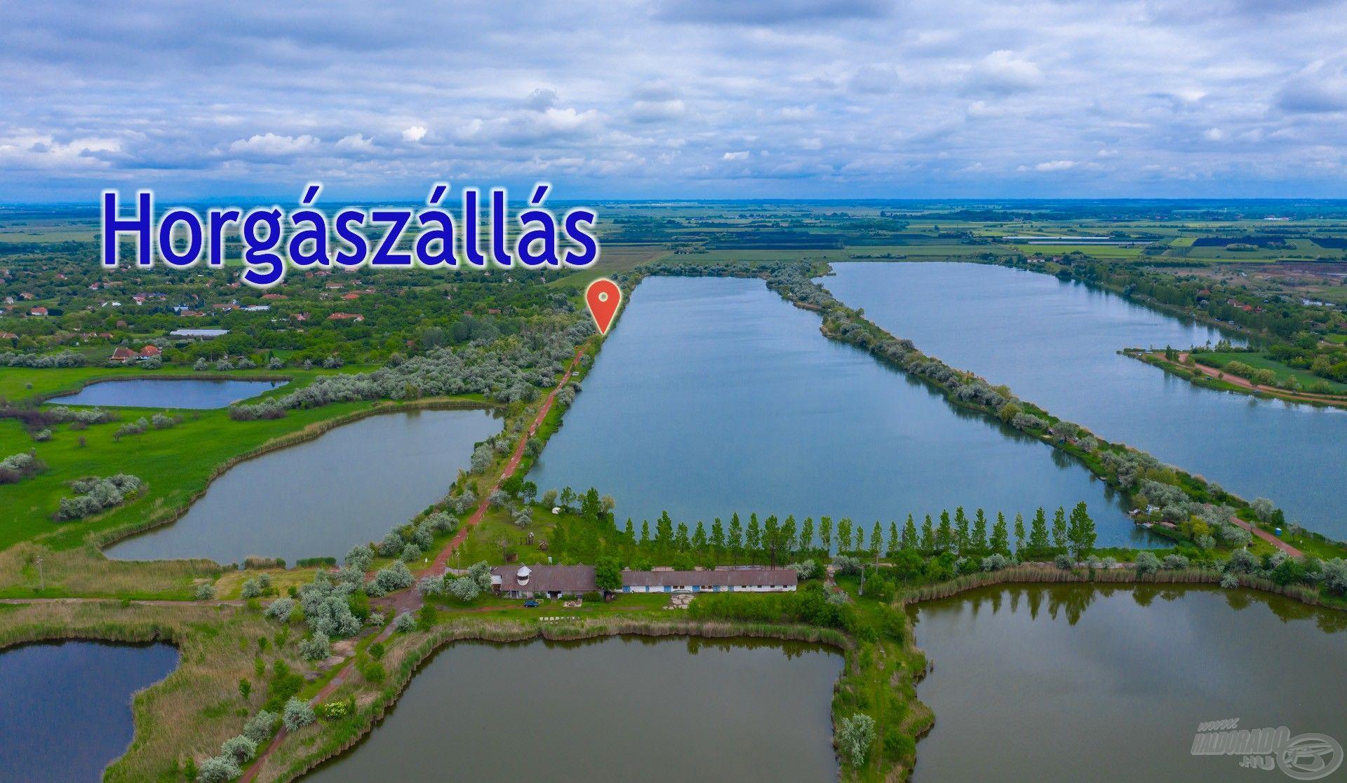 A két legnagyobb a Fás-tó és Csaba-tó. Én az utóbbin próbálkoztam