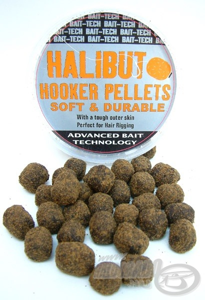 A Halibut Hookers Pellets egy rugalmas, nagyméretű csalizó pellet