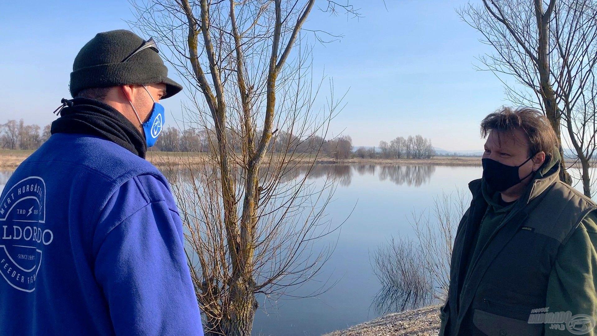 Juhász Tamás, a tórendszer vezető munkatársa segített nekem a helyválasztásban és a horgászat stratégiájának kiválasztásában