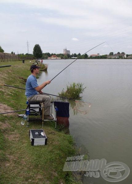 A helyszín a Szegeden található Lencsés horgásztó