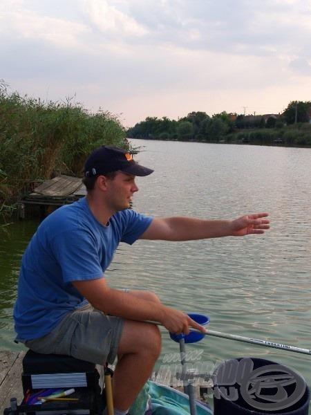 Horgászhelyemet egy stégen alakítottam ki