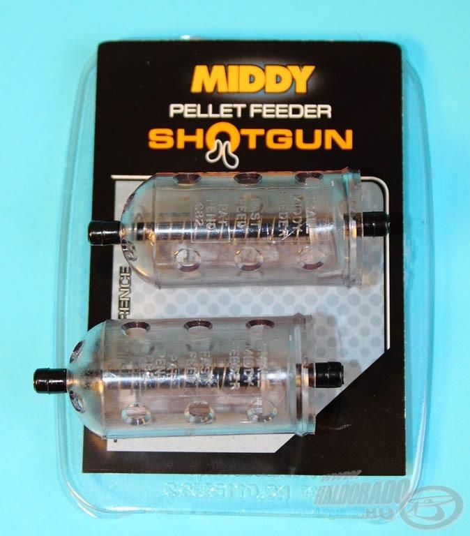A Middy Pellet Feeder Shotgun rugós etetőkosárban nagyon nagy fantázia rejlik a finom pontyhorgászat terén