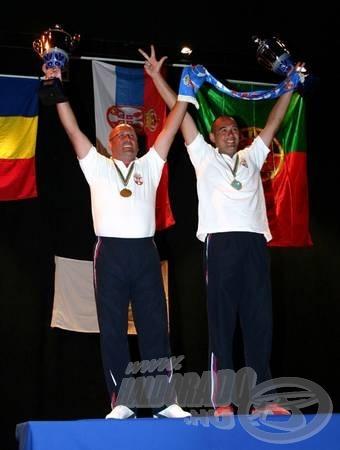 Milan Majkić és Blagoje Nemčev a győzelmi dobogón…