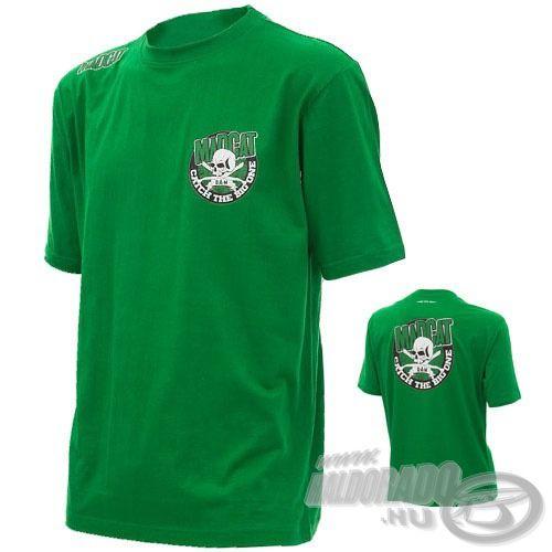 Íme, egy divatos, laza megjelenésű zöld póló a Mad Cat-től